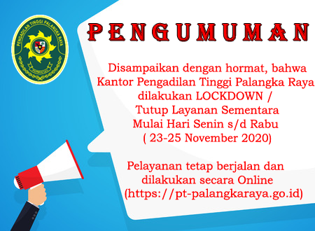 PENGUMUMAN LOCKDOWN